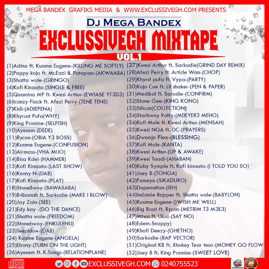 EXCLUSSIVEGH MIXTAPE vol.1-(Hosted by:Dj Mega Bandex)